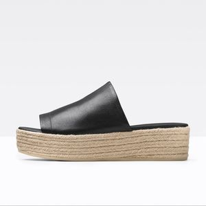 572bbe5325c7 Vince Shoes - Vince Solana Leather Platform Espadrille Sandal